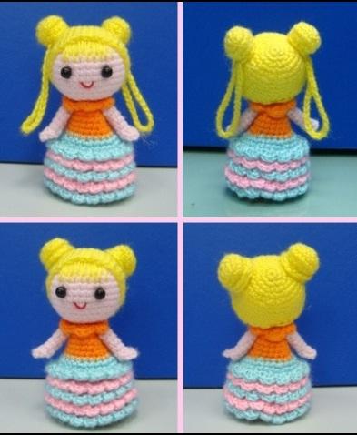 pencil topper girl crochet ganchillo