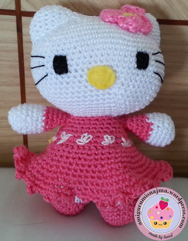 hello kitty pink dress crochet