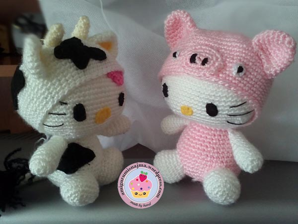 hello kitty disguise pig and cow crochet