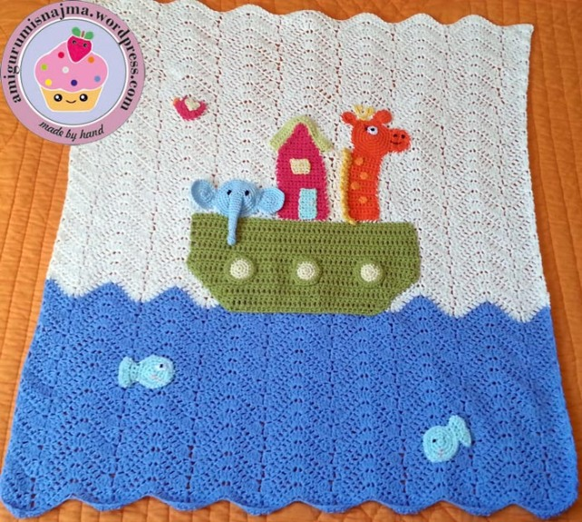 baby blanket cotton noah arch