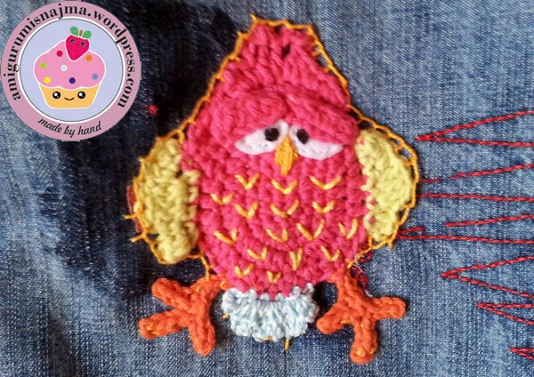 bird applique crochet