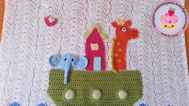 cotton baby noah blanket crochet
