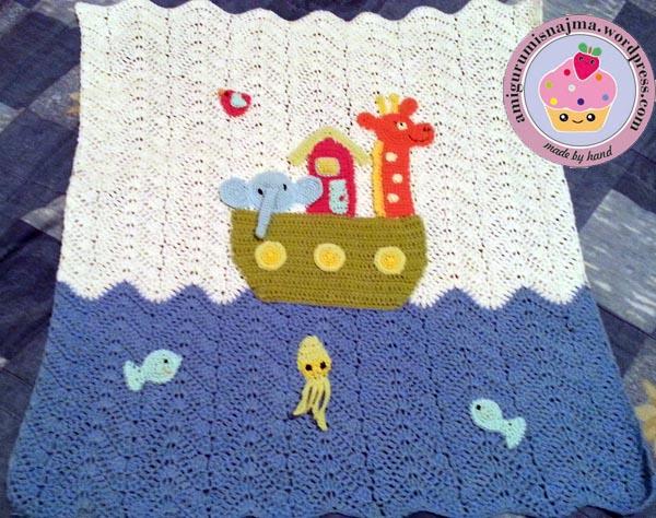 manta arca noe crochet ganchillo blanket