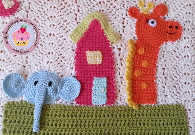 manta bebe arca de noe crochet