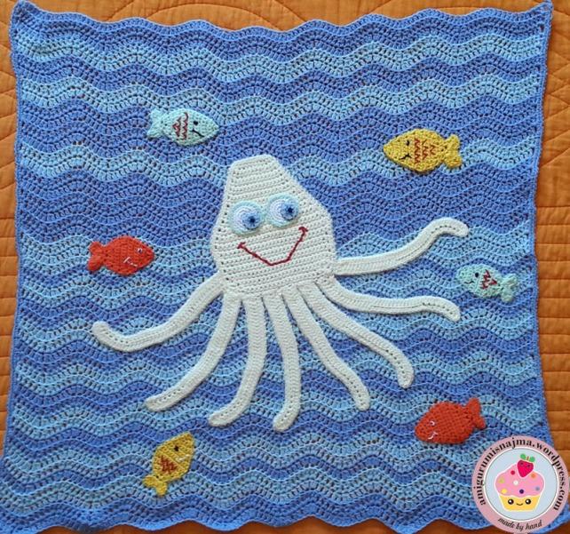 manta bebe pulpo octopus baby blanket