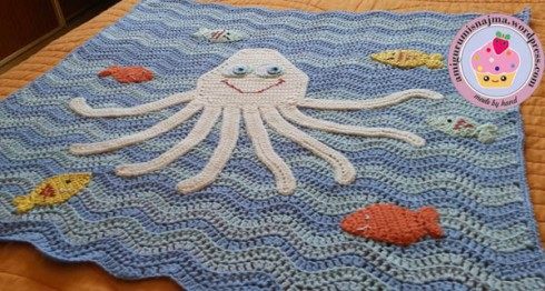 octopus baby blanket crochet ganchillo manta bebe