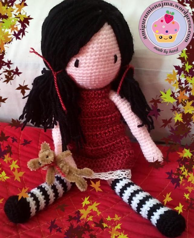 muñeca ganchillo amigurumi crochet doll