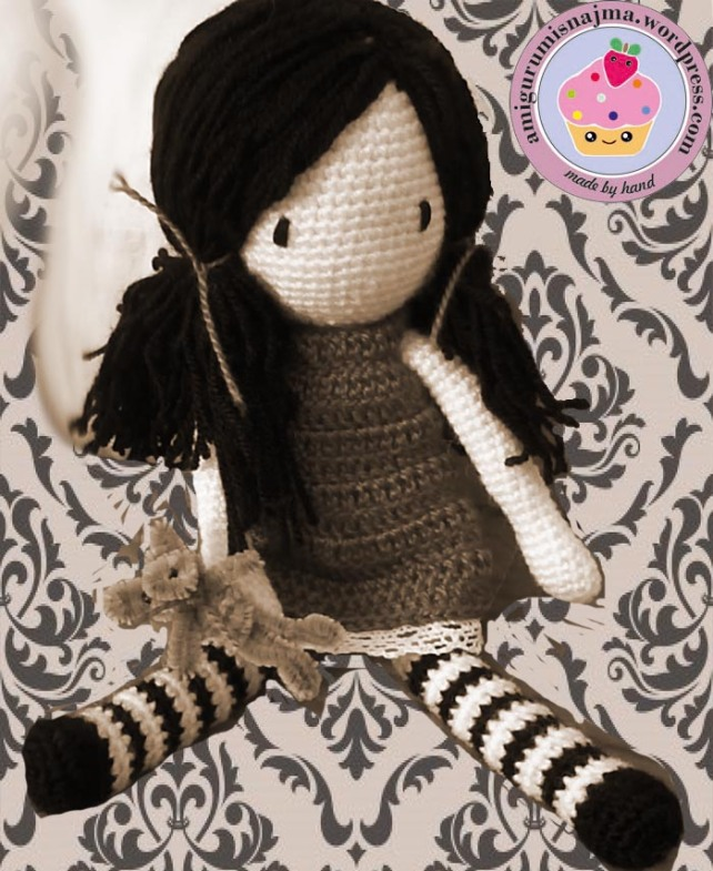 in sepia doll amigurumi