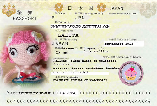 lalita passport amigurumi crochet doll