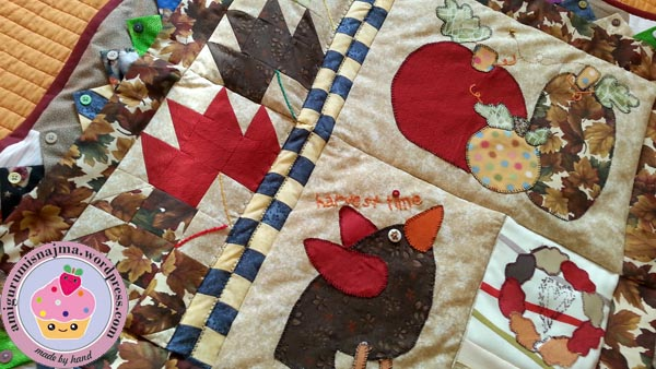 najma quilt cocoa angel patchwork fabric