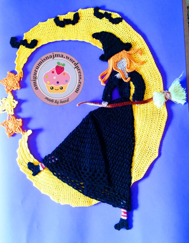 crochet doily witch