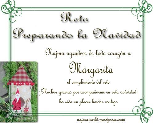 certificado reto bordado margarita