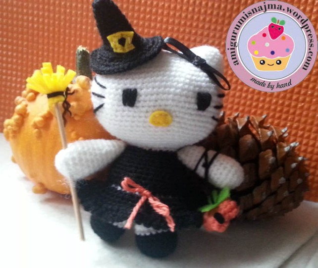 hello kitty witch amigurumi toy ganchillo-06