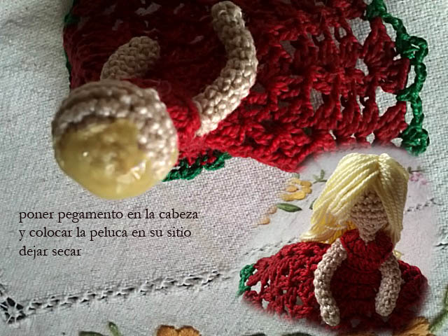 christmas ornament crochet doll