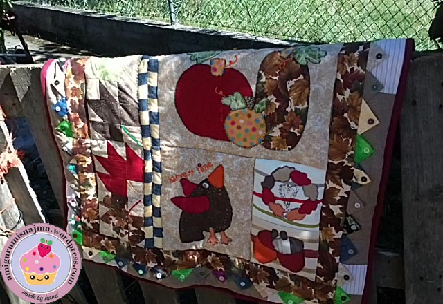 patchwork quilt autumn fabric
