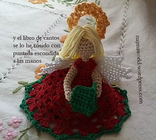 najma amigurumi doll christmas ornament crochet