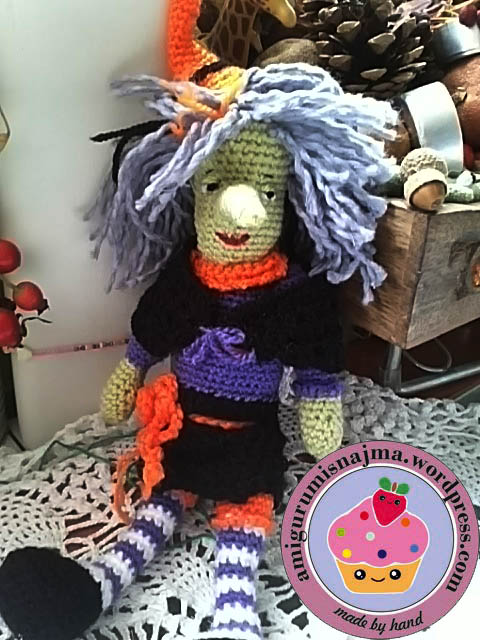 nimue witch amigurumi crochet doll