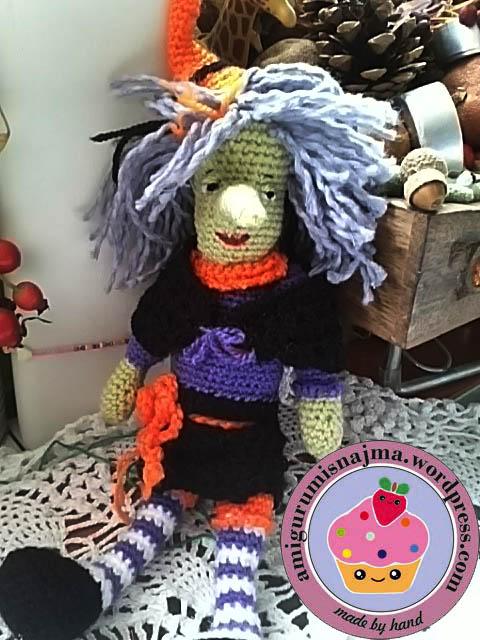 nimue witch amigurumi crochet doll
