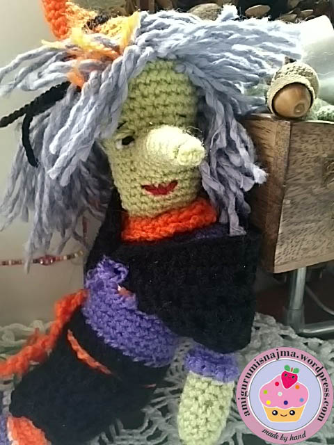 crochet doll amigurumi witch