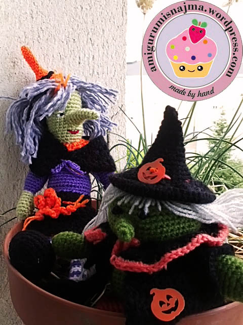 amigurumi witch doll crochet