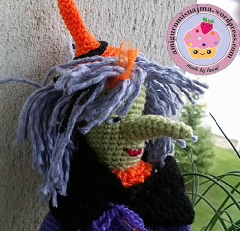 amigurumi crochet witch doll bruja ganchillo