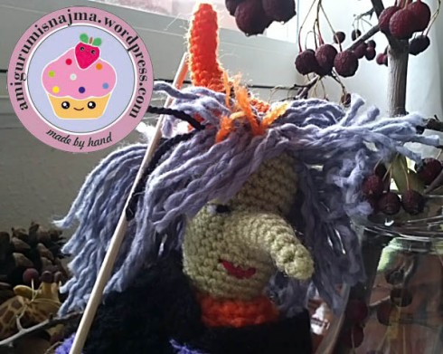 Nimue witch crochet amigurumi