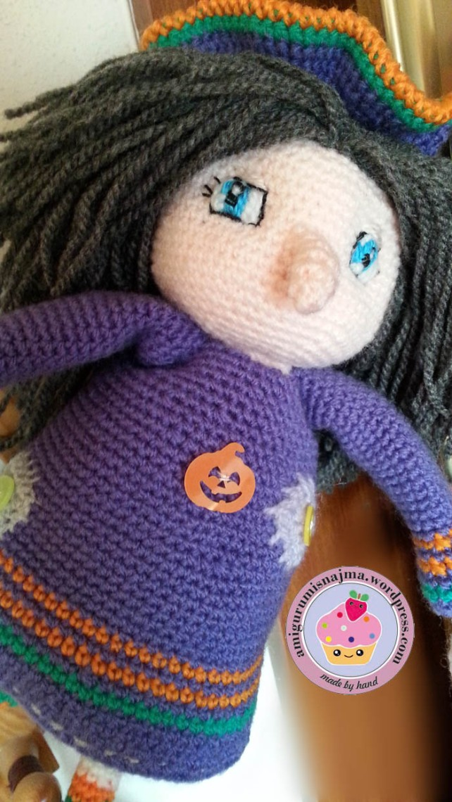 witch amigurumi crochet doll ganchillo