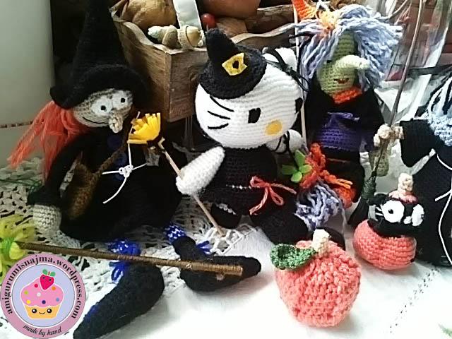 brujas ganchillo crochet amigurumi muñeca toy doll