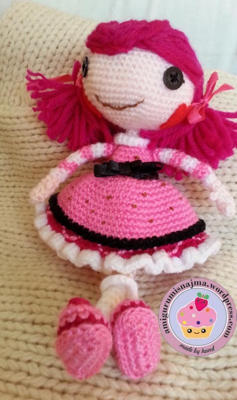 Lalaloopsy Toffee Cocoa Cuddles doll amigurumi-05
