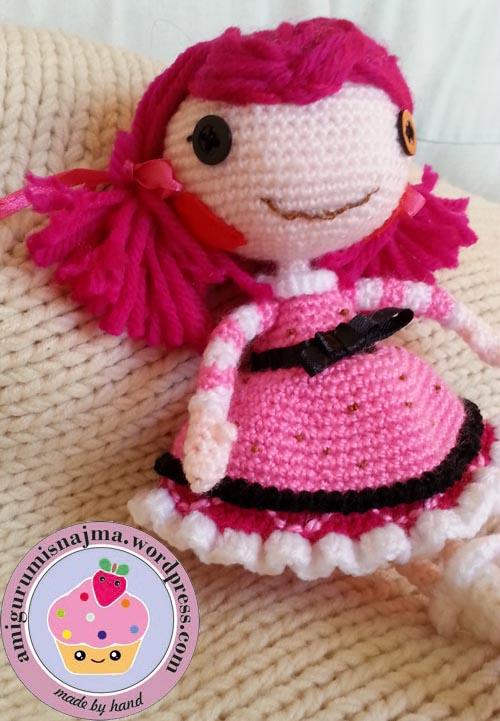 Lalaloopsy Toffee Cocoa Cuddles doll amigurumi-06