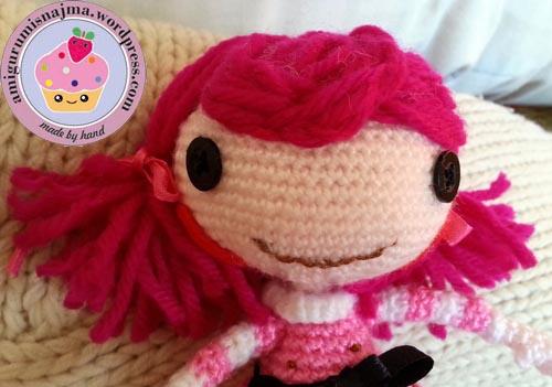 Lalaloopsy Toffee Cocoa Cuddles doll amigurumi-12