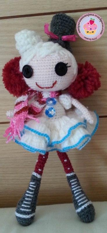 Lalaloopsy winter snowflake crochet doll Labores de Najma