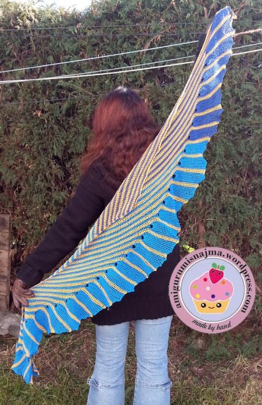 chal ninfa crochet shawl