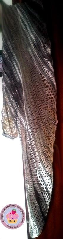 knitted shawl shawlette