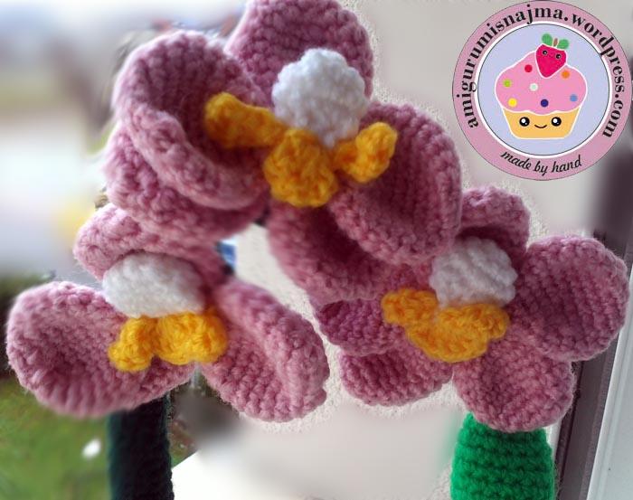 Orquidea crochet labores de najma - Tiestos para orquideas ...