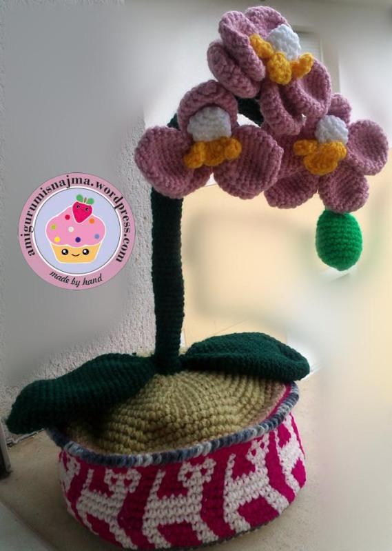 orchid crochet orquidea ganchillo gift