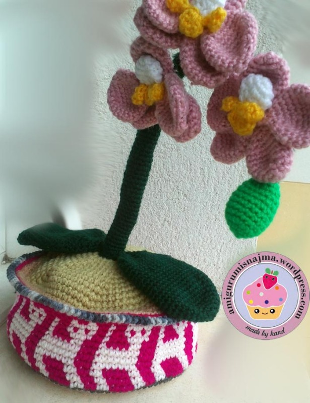 orchid crochet orquidea ganchillo