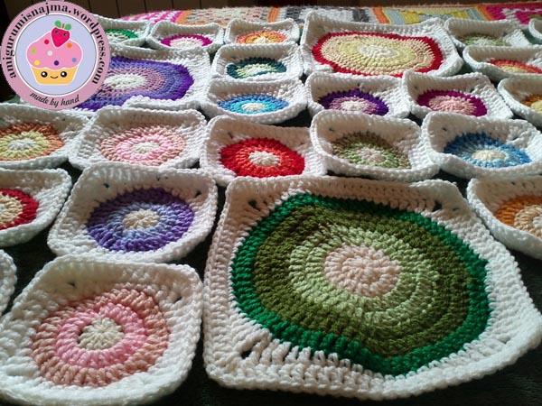 blanket manta crochet ganchillo circles