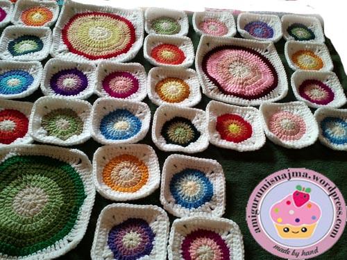 crochet blanket manta ganchillo circulos
