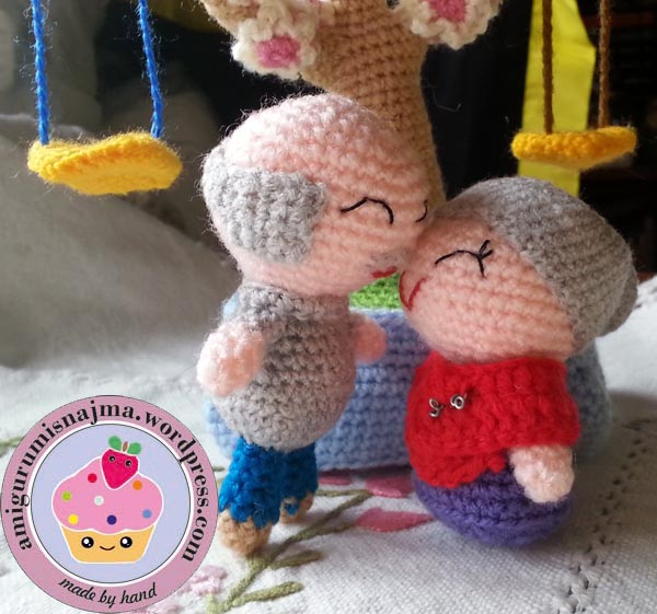 amigurumi old couple crochet