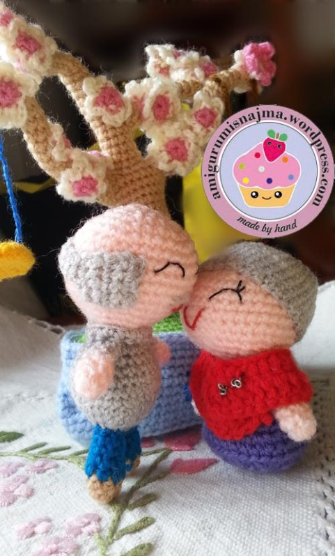 old couple crochet ganchillo amigurumi