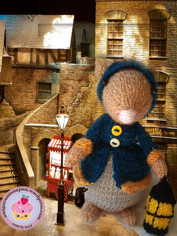 dickensian mouse  knitted toy doll najma-01