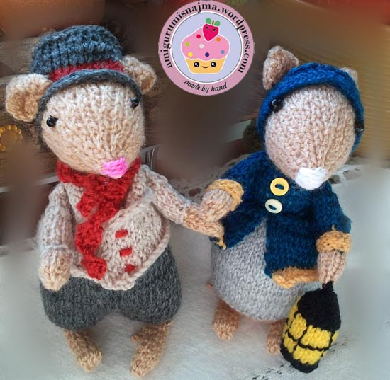 dickensian mouse  knitted toy doll najma-36