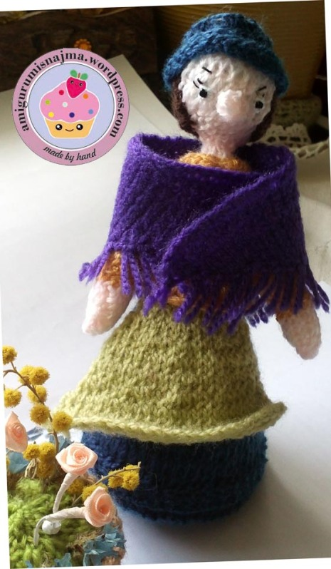flower seller doll knitted toy najma02
