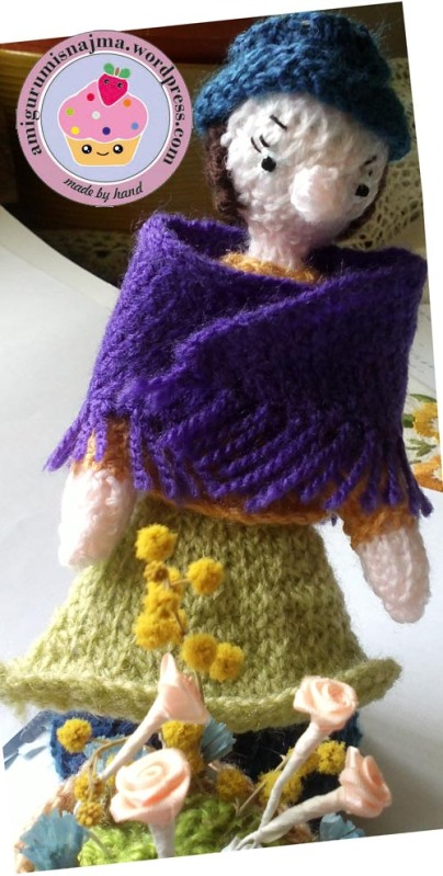 flower seller doll knitted toy najma08