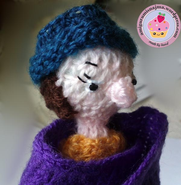 flower seller doll knitted toy najma10