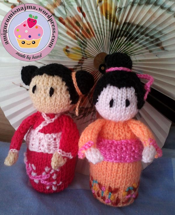 haruko geisha kokeshi  knitted doll najma-05