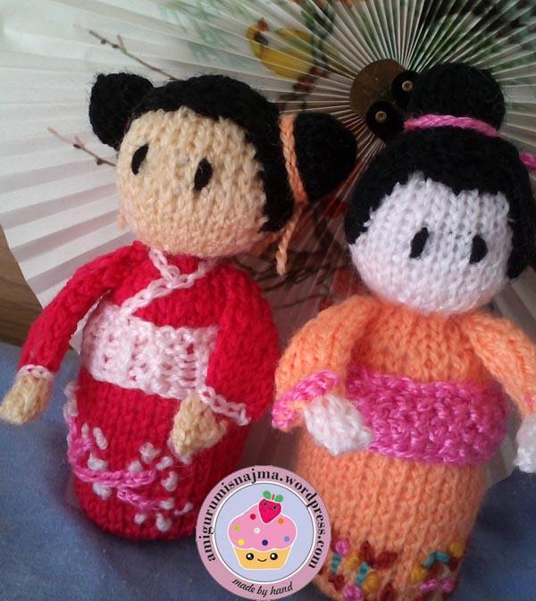 haruko geisha kokeshi  knitted doll najma-06
