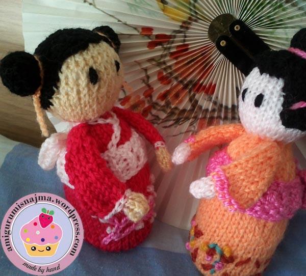 haruko geisha kokeshi  knitted doll najma-07