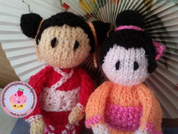 haruko geisha kokeshi  knitted doll najma-08